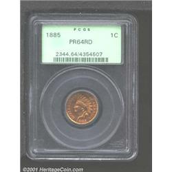 1885 1C PR64 Red PCGS.