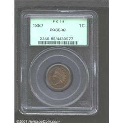 1887 1C PR65 Red and Brown PCGS.