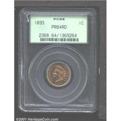 1893 1C PR64 Red PCGS.
