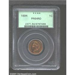 1894 1C PR64 Red PCGS.
