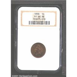 1898 1C PR66 Red and Brown NGC.