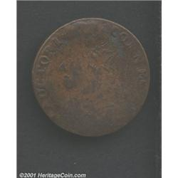 1788 COPPER Connecticut Copper, Mailed Bust Left VF30 Corroded Uncertified.