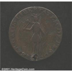 1787 Excelsior Copper VF25 Holed and Scratched Uncertified.