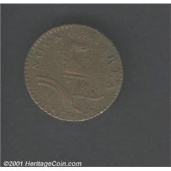1786 COPPER New Jersey Copper, Wide Shield VF20 Corroded Uncertified.