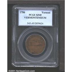 1786 COPPER Vermont Copper, VERMONTENSIUM XF45 PCGS.
