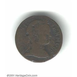 1786 COPPER Vermont Copper, Baby Head Fine 12 Corroded Uncertified.