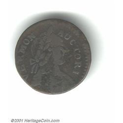 1787 COPPER Vermont Copper, BRITANNIA Fine 12 Corroded Uncertified.