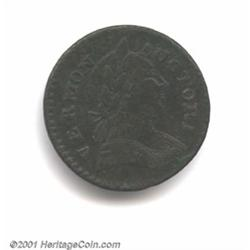 1787 COPPER Vermont Copper, BRITANNIA VF20 Corroded Uncertified.