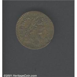 1787 COPPER Vermont Copper, BRITANNIA VF35 Planchet Flaws Uncertified.