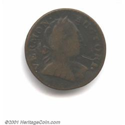 1787 COPPER Vermont Copper, Bust Right VG10 Scratched Uncertified.