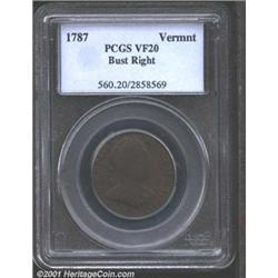 1787 COPPER Vermont Copper, Bust Right VF20 PCGS.