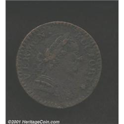 1788 COPPER Vermont Copper, Bust Right VF30 Corroded Uncertified.