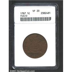 1787 1C Fugio Cent, STATES UNITED, Cinquefoils VF20 ANACS.