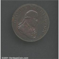 1795 1/2P Washington Liberty & Security Halfpenny, BIRMINGHAM Edge XF40 Lightly Cleaned Uncertified.