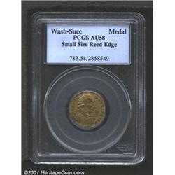 Undated MEDAL Washington Success Medal, Small Size, Reeded Edge AU58 PCGS.