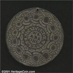 1776 $1 Continental Dollar, CURENCY, Pewter XF40 Holed, Bent Uncertified.