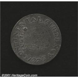 1776 $1 Continental Dollar, CURRENCY, Pewter VF20 Corroded Uncertified.