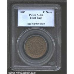 1785 COPPER Nova Constellatio Copper, Blunt Rays AU50 PCGS.