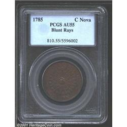 1785 COPPER Nova Constellatio Copper, Blunt Rays AU55 PCGS.