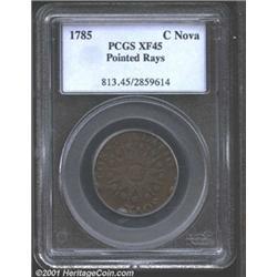 1785 COPPER Nova Constellatio Copper, Pointed Rays XF45 PCGS.