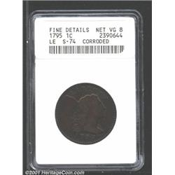 1795 1C Lettered Edge--Corroded--ANACS.
