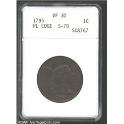 1795 1C Plain Edge VF30 ANACS.