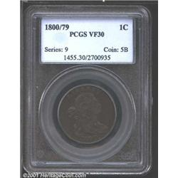 1800/79 1C VF30 PCGS.