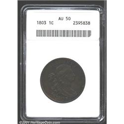 1803 1C Small Date, Small Fraction AU50 ANACS.