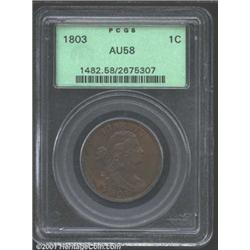 1803 1C Small Date, Large Fraction AU58 PCGS.