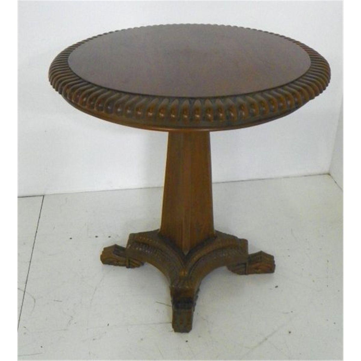 Image 1 : Regency Style Round Table Pedestal Base ...