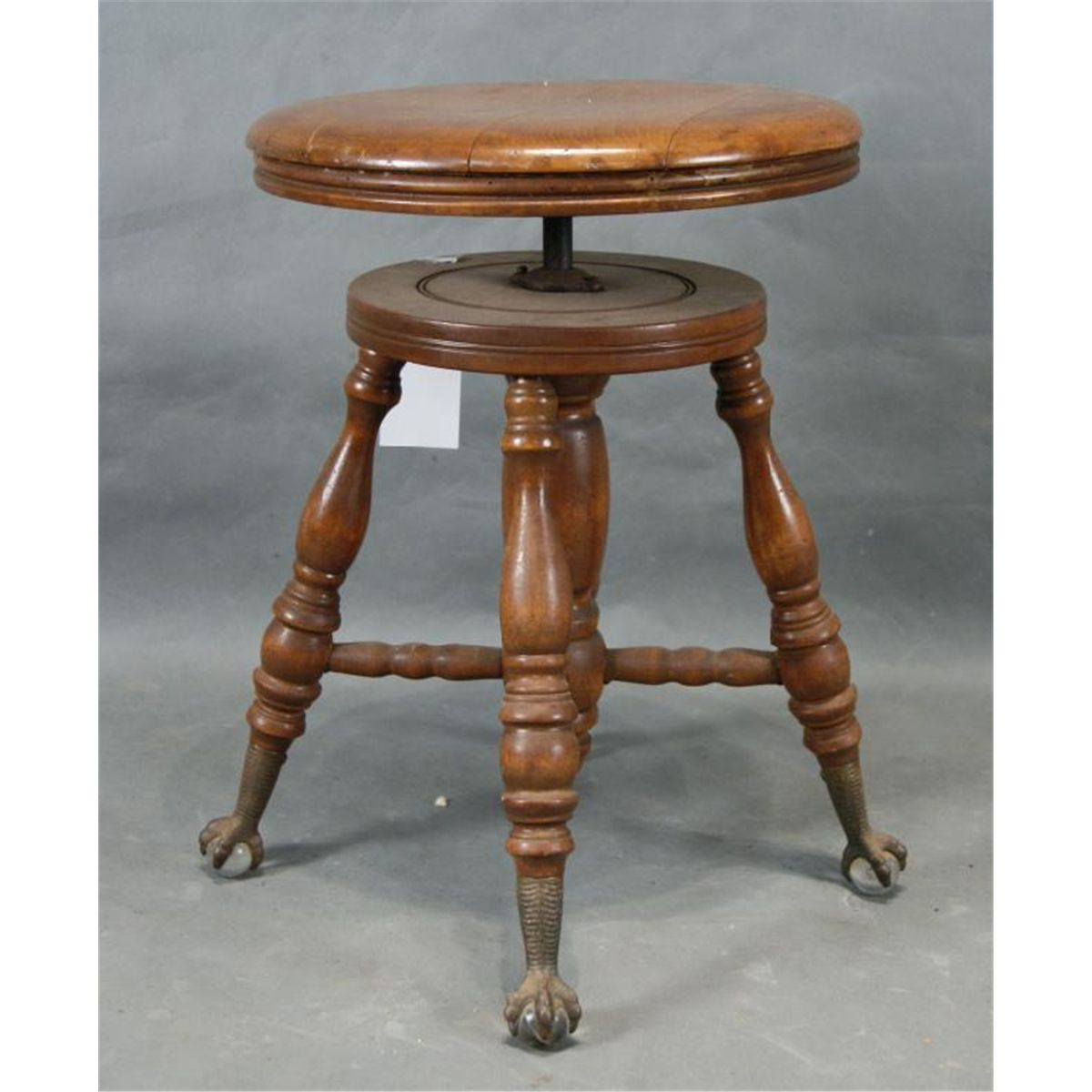 Furniture 1800-1899 Stool With Claw Feet