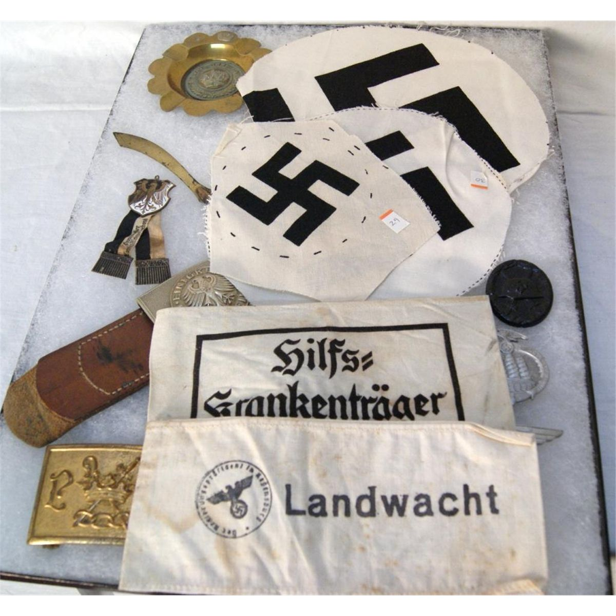 Collection of WWII SS Landwacht memorabilia