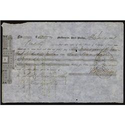 Melbourne, Port Phillip, 1851, 2nd of Exchange.