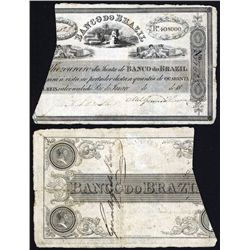 Banco do Brazil, Decree of 23.9.1829, Issued Banknote.