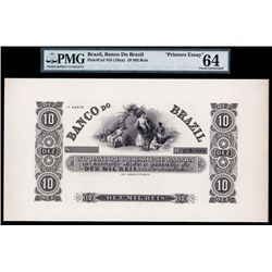 Banco Do Brazil ND 1840-50's Printers Essay Proof.