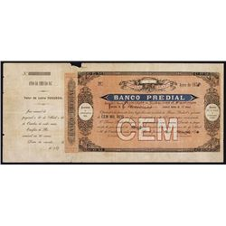 Banco Predial Early Certificate Used as Model For ABN Certificate.