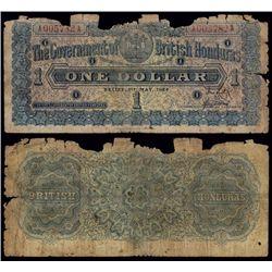 Government of British Honduras, 1924 Issue Banknote.