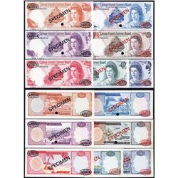 Cayman Islands Currency Board Specimen Set of 7 With Serial #1.