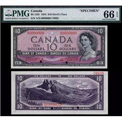 "Bank of Canada 1954 ""Devil's Face Hairdo"" Issue Specimen."