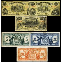 Bank of Toronto, 1935-37 Issue, Lot of 3 Notes.
