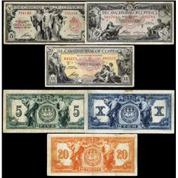 Canadian Bank of Commerce, 1935 Issue, Lot of 3 Notes.