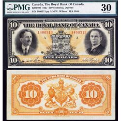 Royal Bank of Canada, 1927 Issue Banknote.