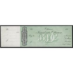 Dominion Bank Note Co. - Bank of Ottawa Proof Check.