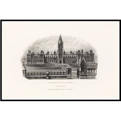 Dominion of Canada Proof Vignette of Parliament Building Used on Back of $1 1897-1900 Issues.