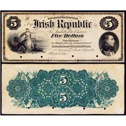 Irish Republic, 1866-67 National Promissory Bonds Issue Specimen.