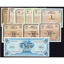 Allied Military Currency, Series 1943 & 1943 A, Lot of 10 Notes.