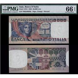 Banca D'Italia, 1982 Issue.