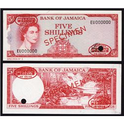 Bank of Jamaica, Specimen No.1, 1964 Issue.