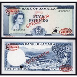 Bank of Jamaica, Specimen No.2, 1961 Issue.