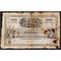 Planters' Bank, 1844 Issue Banknote.